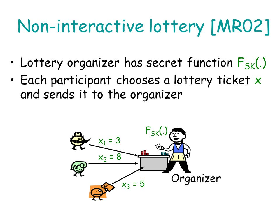 Non-interactive lottery [MR02]